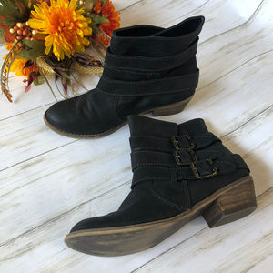BP Black Ankle Booties with Buckles